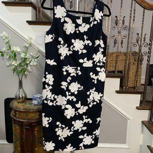 Talbots NWOT Navy Sleeveless Sheath Dress Size 10